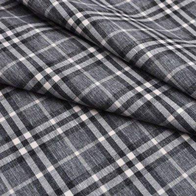 Рогожка CHECK grey для обивки мебели