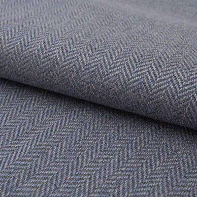 Рогожка Ткань ECOTWEED grey blue для обивки мебели