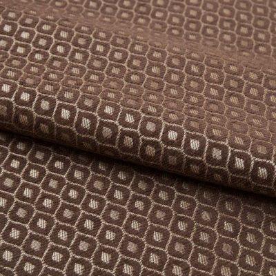 Шенилл Ткань PAOLA romb brown для обивки мебели