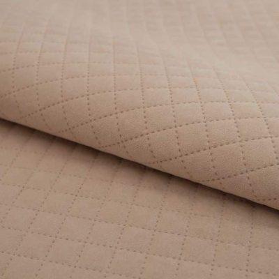 Велюр TRINITI romb light beige для обивки мебели