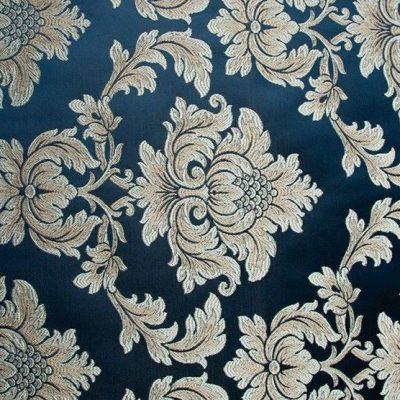 Жаккард Ткань ANGELIQUE monogramme bleu royal для обивки мебели