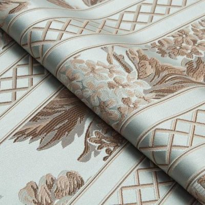 Жаккард Ткань BEATRICE fascia chiaro verde для обивки мебели
