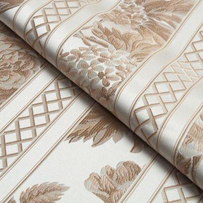 Жаккард Ткань BEATRICE fascia oro bianco для обивки мебели