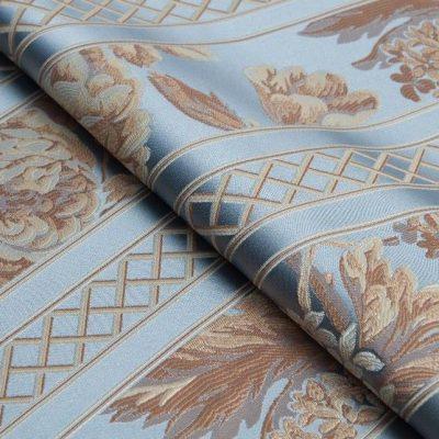 Жаккард Ткань BEATRICE fascia profondo blu для обивки мебели