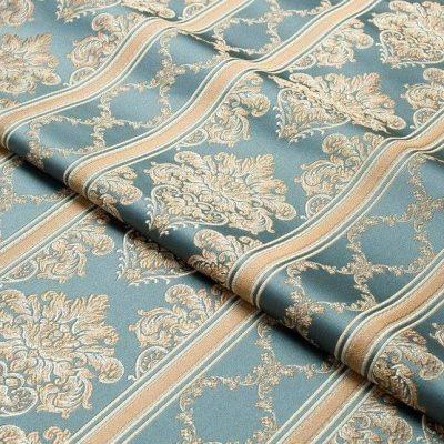 Жаккард Ткань CHATEAU LIGNE azur N для обивки мебели