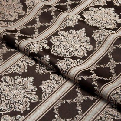 Жаккард Ткань CHATEAU LIGNE chocolat для обивки мебели