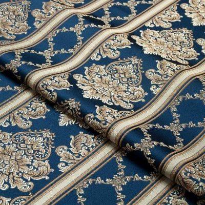Жаккард Ткань CHATEAU LIGNE cobalt для обивки мебели
