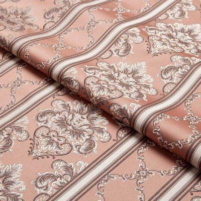 Жаккард Ткань CHATEAU LIGNE rose N для обивки мебели