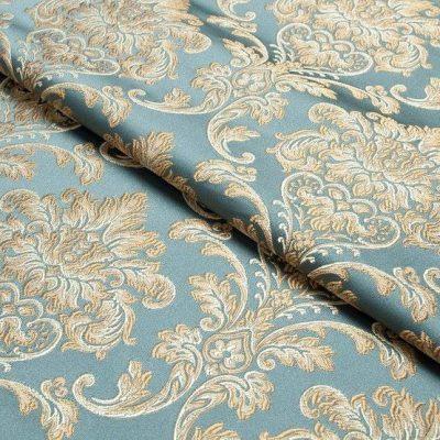 Жаккард Ткань CHATEAU MONOGRAMME azur N для обивки мебели