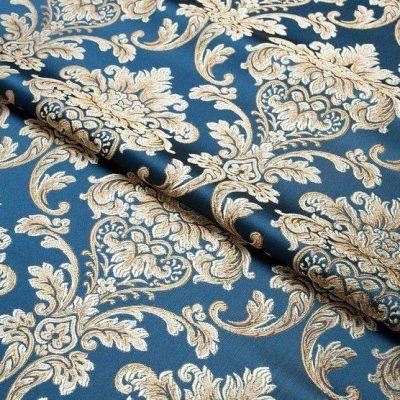 Жаккард Ткань CHATEAU MONOGRAMME cobalt N для обивки мебели
