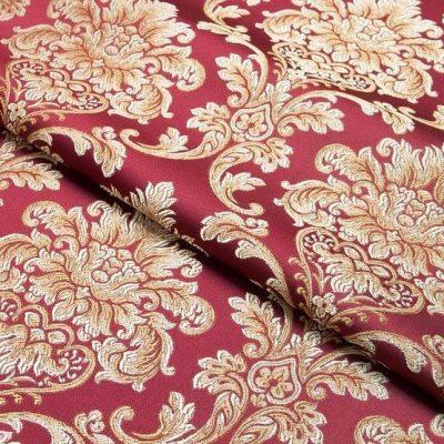 Жаккард Ткань CHATEAU MONOGRAMME rubis для обивки мебели