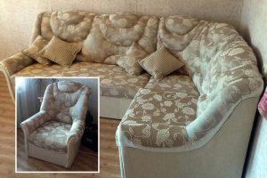 Пример реставрации углового дивана