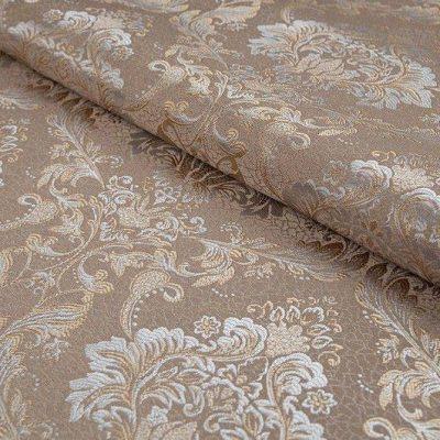 Жаккард FLORA damask beige для обивки мебели