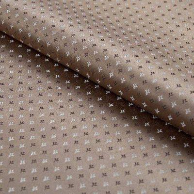 Жаккард FLORA damask comp brown для обивки мебели