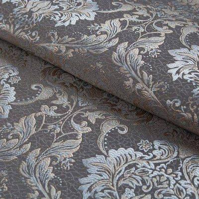 Жаккард FLORA damask grey для обивки мебели