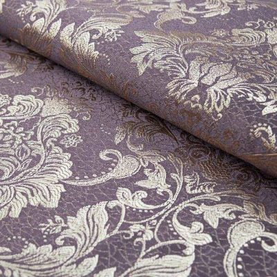 Жаккард FLORA damask lilac для обивки мебели