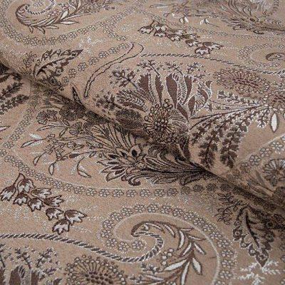 Жаккард FLORA paisley brown для обивки мебели