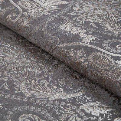 Жаккард FLORA paisley grey для обивки мебели