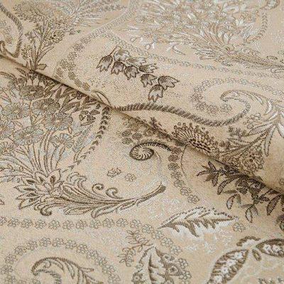 Жаккард FLORA paisley light beige для обивки мебели