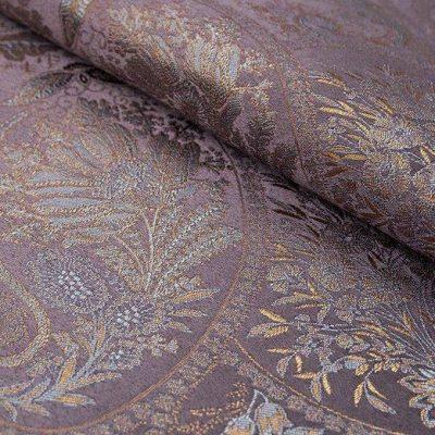 Жаккард FLORA paisley violet для обивки мебели
