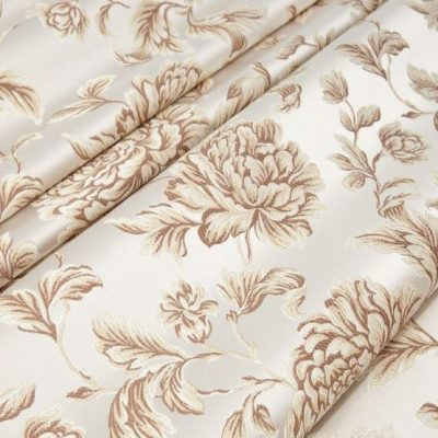 Жаккард Ткань MARGUERITE DE VALOIS fleur blanc N для обивки мебели