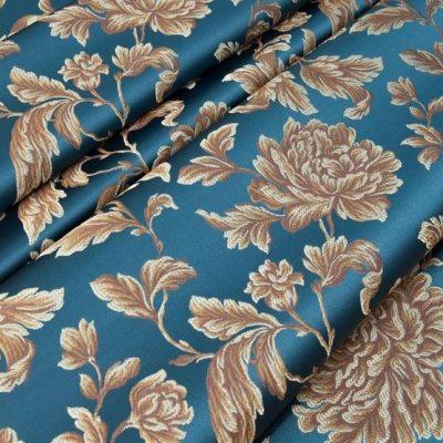 Жаккард Ткань MARGUERITE DE VALOIS fleur marin N для обивки мебели