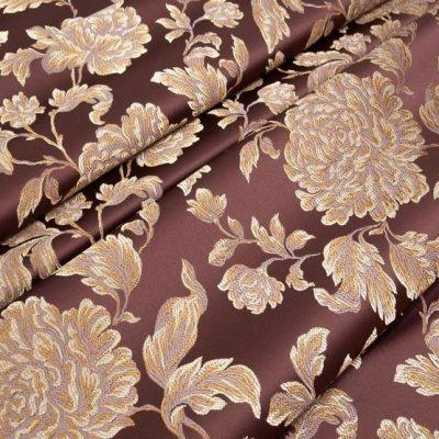 Жаккард Ткань MARGUERITE DE VALOIS fleur marsala N для обивки мебели