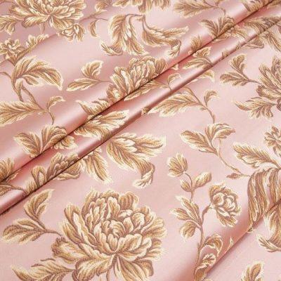 Жаккард Ткань MARGUERITE DE VALOIS fleur rose N для обивки мебели
