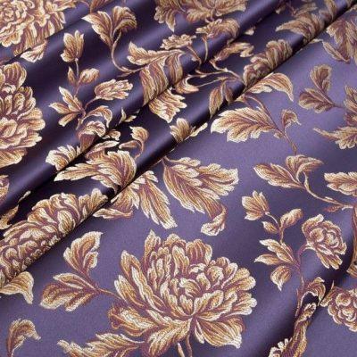 Жаккард Ткань MARGUERITE DE VALOIS fleur violet N для обивки мебели