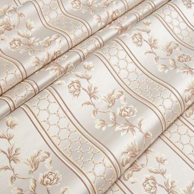 Жаккард Ткань MARGUERITE DE VALOIS ligne blanc N для обивки мебели