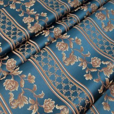 Жаккард Ткань MARGUERITE DE VALOIS ligne marin N для обивки мебели