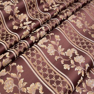 Жаккард Ткань MARGUERITE DE VALOIS ligne marsala N для обивки мебели