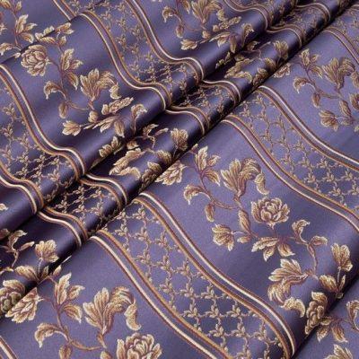 Жаккард Ткань MARGUERITE DE VALOIS ligne violet N для обивки мебели