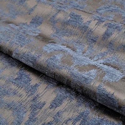 Жаккард Ткань MOIRE blue для обивки мебели