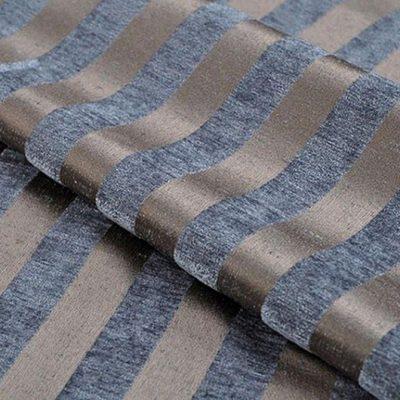 Жаккард Ткань MOIRE stripe blue для обивки мебели