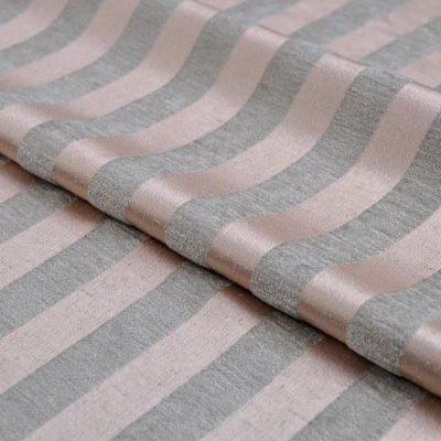Жаккард Ткань MOIRE stripe pink для обивки мебели