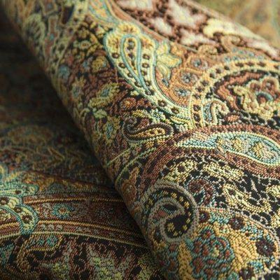 Жаккард Ткань SANSARA malachite для обивки мебели