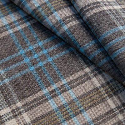 Жаккард Ткань WALES brown blue для обивки мебели