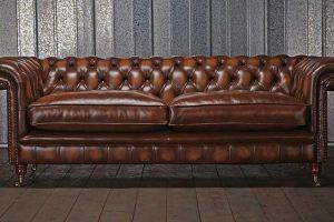 Перетяжка мягкой мебели кожей