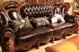 Перетяжка мебели натуральной кожей