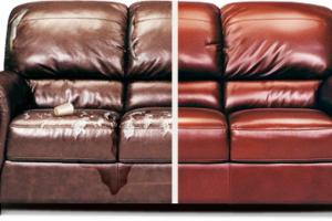 Реставрация обшивки дивана