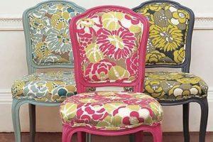 Обтяжка стульев: дарим старой мебели новую жизнь